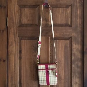 Genuine Coach Tattersall Plaid Crossbody bag